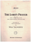 The Lord's Prayer from the 'Edric Connor Collection of West Indian Spirituals and Folk Tunes' arranged for Voice and Piano by Max Saunders 
