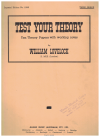 Test Your Theory Third Grade Ten Theory Papers with Working Notes by William Lovelock Imperial Edition No.1096 used book for sale in Australian second hand music shop