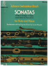 Johann Sebastian Bach Sonatas for Flute and Piano Volume 2 (Louis Moyse) Score Only 