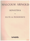 Malcolm Arnold Sonatina for Flute and Pianoforte Score Only used sheet music score for flute and piano for sale in Australian second hand music shop