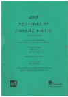 2013 Festival Of Choral Music for SA and Piano songbook (Public Schools NSW) used choral song book for sale in Australian second hand music shop
