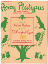 Percy Platypus And Other Songs For Children piano songbook by Helen Noakes O G Campbell Egan (1954) Imperial Edition No.729 