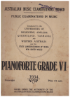 AMEB Pianoforte Public Examinations in Music 1934 Grade VI (Sixth Grade) Australian Music Examinations Board 
