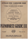 AMEB Pianoforte Public Examinations in Music 1938 Grade III (Third Grade) Australian Music Examinations Board 