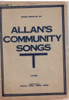 Allan's Community Songs Volume 3 choral songbook Imperial Edition No.306 used choral song book for sale in Australian second hand music shop