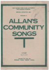Allan's Community Songs Volume 2 choral songbook Imperial Edition No.236 used choral song book for sale in Australian second hand music shop