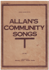 Allan's Community Songs Volume 1 choral songbook Imperial Edition No.164 used choral song book for sale in Australian second hand music shop