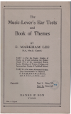 The Music-Lover's Ear Tests And Book Of Themes Part II More Advanced by E Markham Lee (c.1940) used book for sale in Australian second hand music shop