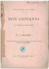 Mozart Don Giovanni Vocal Score by W A Mozart (MacFarren) Novello Original Octavo Edition used book for sale in Australian second hand music shop
