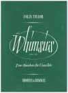 Whimsies Four Miniatures For Piano Solo by Colin Taylor No.1 (A minor) No.2 (E minor) No.3 (F major) No.4 (B minor) used piano sheet music scores for sale in Australian second hand sheet music shop