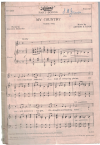 My Country unison song by Dorothy Mackellar Arthur S Loam (1939) Allan's Part Songs No.403 