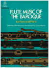 Flute Music Of The Baroque for Flute and Piano revised annotated by Louis Moyse (1967) Score Book Only Schirmer Ed.2531 