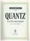 Quantz Floten-Konzert in G Major for Flute and Piano by Joh Joachim Quantz (Wilhelm Barge) Score Book Only Edition Breitkopf No.3097 