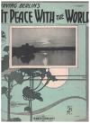 At Peace With The World (1926) by Irving Berlin used original piano sheet music score for sale in Australian second hand music shop