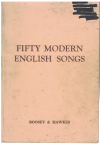 Fifty Modern English Songs piano songbook selected by The Society of English Singers used piano song book for sale in Australian second hand music shop