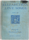 Elizabethan Love Songs First Set High Voice arranged Frederick Keel piano songbook used piano song book for sale in Australian second hand music shop