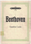 Beethoven Samtliche Lieder fur eine Singstimme mit Klavierbegleitung piano songbook Edition Peters Nr.180 