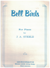 Bell Birds for Piano Grade 3 by J A Steele Australian composer (1970) used original piano sheet music score for sale in Australian second hand music shop