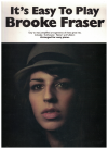 It's Easy To Play Brooke Fraser easy piano songbook (2010) ISBN 1921029110/978921029110 MS04181 used song book for sale in Australian second hand music shop