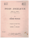 Panis Angelicus (Bread of Angels) (in F Major) by Cesar Frank George S English used original piano sheet music 
